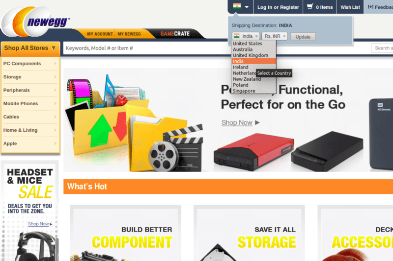 india, europe, newegg, launch, asia, e-commerce, pc hardware, expansion, singapore