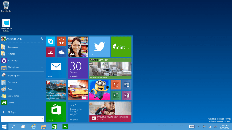microsoft, software, preview, technical preview, threshold, windows 10