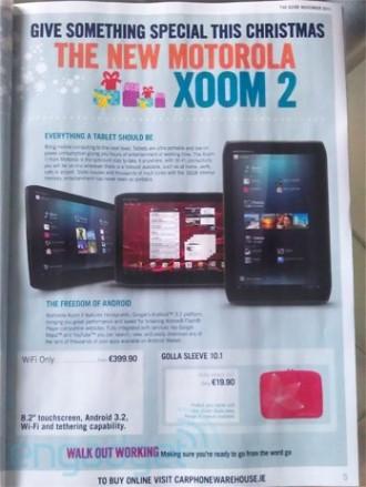 leaked, motorola, motorola xoom, tablet, xoom 2