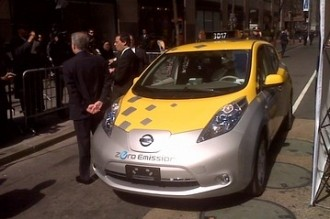new york, nissan, electric car