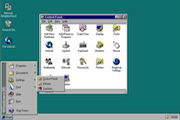 Classic Windows and Mac operating systems running in the browser