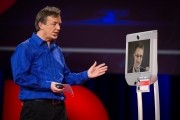 Edward Snowden appears at TED via telepresence robot