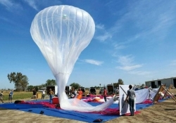 A single Project Loon balloon can now float for six months, blanket an area the size of Rhode Island