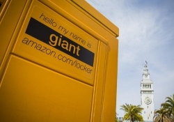 A mysterious giant Amazon locker appears in downtown San Francisco