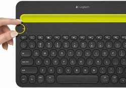 Logitech's K480 Bluetooth keyboard can be paired with up to three devices at once