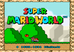 Check out this extremely complex credits warp glitch in Super Mario World