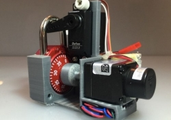 Watch this 3D printed, Arduino-based robot crack any Master Combination Lock in seconds