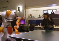 Stanford University students program robot to play ping pong