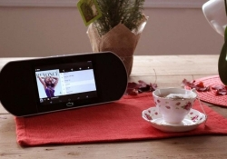 The Avy Smart Speaker blends premium sound with an Android-powered touchscreen