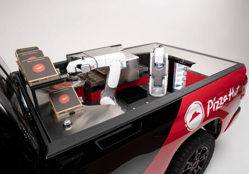 Pizza Hut reveals a concept delivery truck with a built-in robotic kitchen
